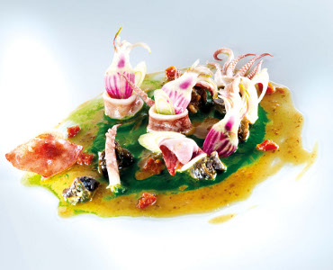 Snails and Squid in Dijon Mustard