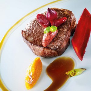 Beef Fillet with Carrots, Fallot Blackcurrant Mustard